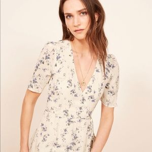 Reformation Lucky Dress floral wrap